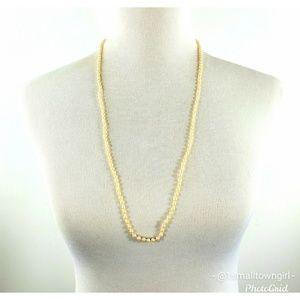 "J. Crew Jewelry - J. Crew long strand pearl necklace 16"""